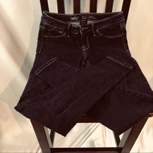 Mossimo Demin Jeans Blue Mid-Rise Jegging 6/28R